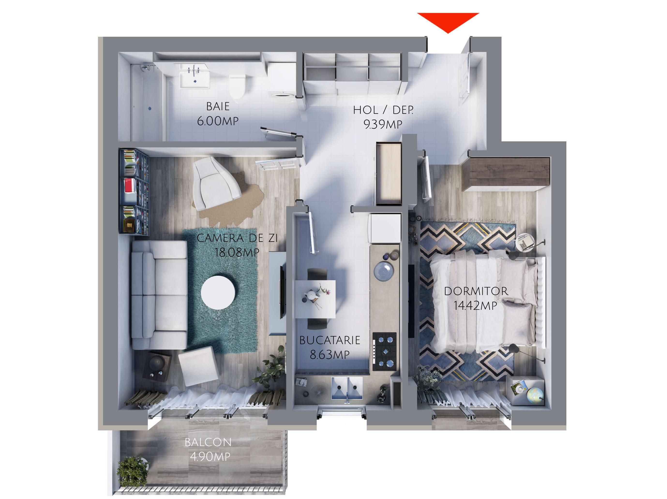 Apartament 2 camere MR56